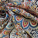 Соловушка 1893-17, павлопосадский платок шерстяной  с шелковой бахромой, фото 5