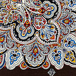 Соловушка 1893-17, павлопосадский платок шерстяной  с шелковой бахромой, фото 7