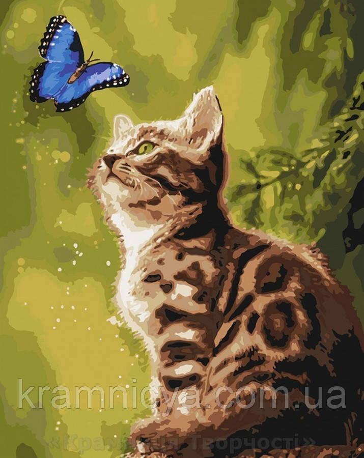 Картина по номерам 40x50 Загадочная бабочка, Идейка (КНО4150)