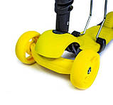 Самокат беговел scooter Smart 3в1 желтый., фото 3