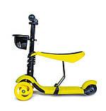 Самокат беговел scooter Smart 3в1 желтый., фото 2