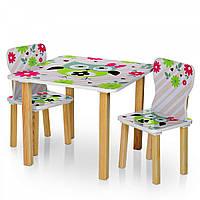 """Детский столик деревянный с двумя стульчиками """"Сова"""" Bambi 506-61"""