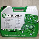 Набор ключей головок  INTERTOOL 108 единиц инструментов, фото 2