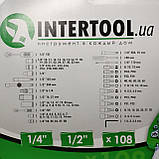 Набор ключей головок  INTERTOOL 108 единиц инструментов, фото 5