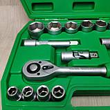 Набір ключів, головок INTERTOOL 21 одиниця інструментів, фото 3