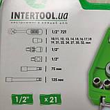 Набір ключів, головок INTERTOOL 21 одиниця інструментів, фото 7