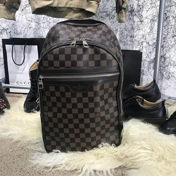 Рюкзак Louis Vuitton из плотной эко-кожи -2 цвета