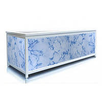 Экран под ванну 170 см, голубой камень, пластиковый каркас