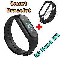 Фитнес браслет Smart Bracelet Mi Band M3 Black. Клипса зарядка. Цветной экран. Фитнес-браслет Mi Band M3