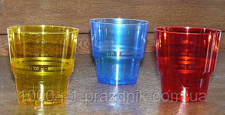 Стеклопласт стакан оранжевый 250мл. 1 шт.
