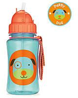 Детская бутылочка (поильник) с силиконовой трубочкой Собачка Дерби Скип Хоп для детей