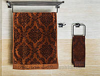 Полотенце велюровое La Scala CJP коричневое 30х65 см