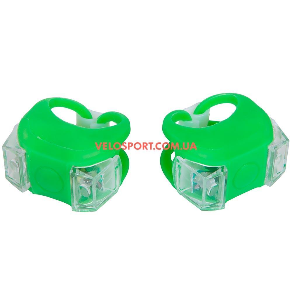 Комплект освещение на велосипед BC-RL8002 зеленый