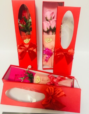 Роза мыло в индивидуальной упаковке 10 шт