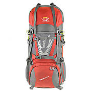 Рюкзак туристический TANLUHU красный 80х32х24 55+5л Polyester Oxford Rip Stop PU 600D/1600D кс627кр