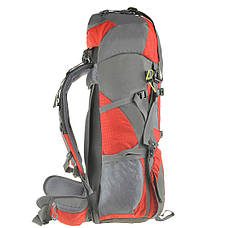 Рюкзак туристический TANLUHU красный 80х32х24 55+5л Polyester Oxford Rip Stop PU 600D/1600D кс627кр, фото 3