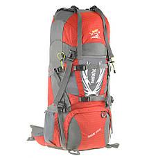 Рюкзак туристический TANLUHU красный 80х32х24 55+5л Polyester Oxford Rip Stop PU 600D/1600D кс627кр, фото 2