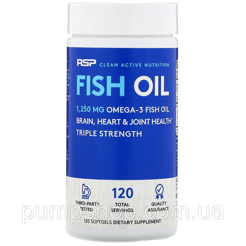 Омега-3 RSP Nutrition Fish Oil 120 порц. (900 мл омега-3 на капсулу)