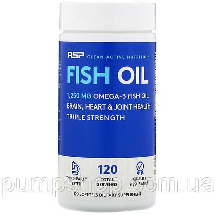 Омега-3 RSP Nutrition Fish Oil 120 порц. (900 мл омега-3 на капсулу), фото 2