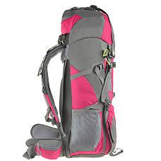 Рюкзак туристический розовый TANLUHU  80х32х24 55+5л Polyester Oxford Rip Stop PU 600D/1600D кс627роз, фото 3