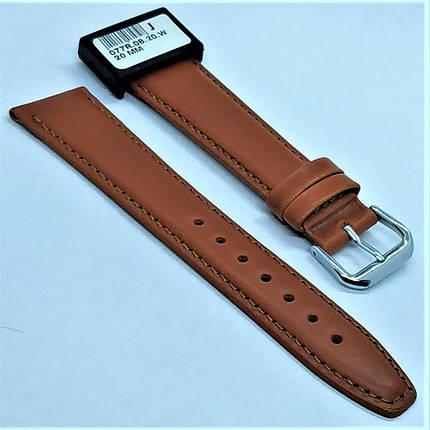 20 мм Кожаный Ремешок для часов CONDOR 077.20.08 Коричневый Ремешок на часы из Натуральной кожи, фото 2