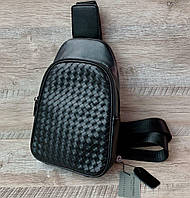 Крутая нагрудная сумка-слинг Bottega Veneta, фото 1