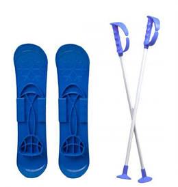 """Детские пластиковые лыжи """"SKI BIG FOOT"""" (синие)"""