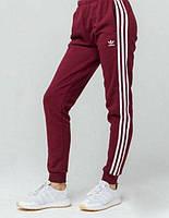 Спортивные штаны Адидас на манжете бодовые (красные) Adidas pants