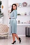 Платье на запах с V-образным вырезом, подчеркнет декольте р.48,50,52,54,56,58 код 967О, фото 3