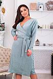 Платье на запах с V-образным вырезом, подчеркнет декольте р.48,50,52,54,56,58 код 967О, фото 2