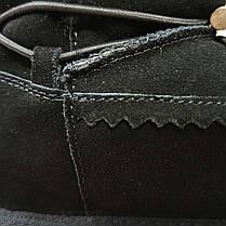 Натуральна замша натуральне хутро уггі чорні черевики дитячі чобітки уггі дитячі для хлопчика для дівчинки, фото 2