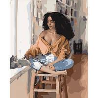 """Картина по номерам на холсте """"Приятные мысли"""" KHO4659"""