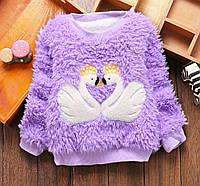 Теплый детский свитер для девочки