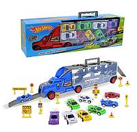 Грузовик автовоз с машинками Hot Wheel sc61 игрушечный трейлер Хот вилс