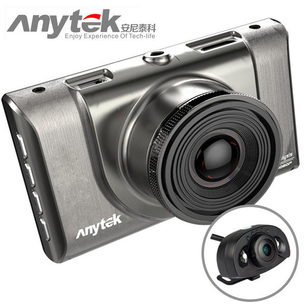 Автомобильный видеорегистраторAnytek A100-Hна 2 камеры HDMI | авторегистратор | регистратор в авто