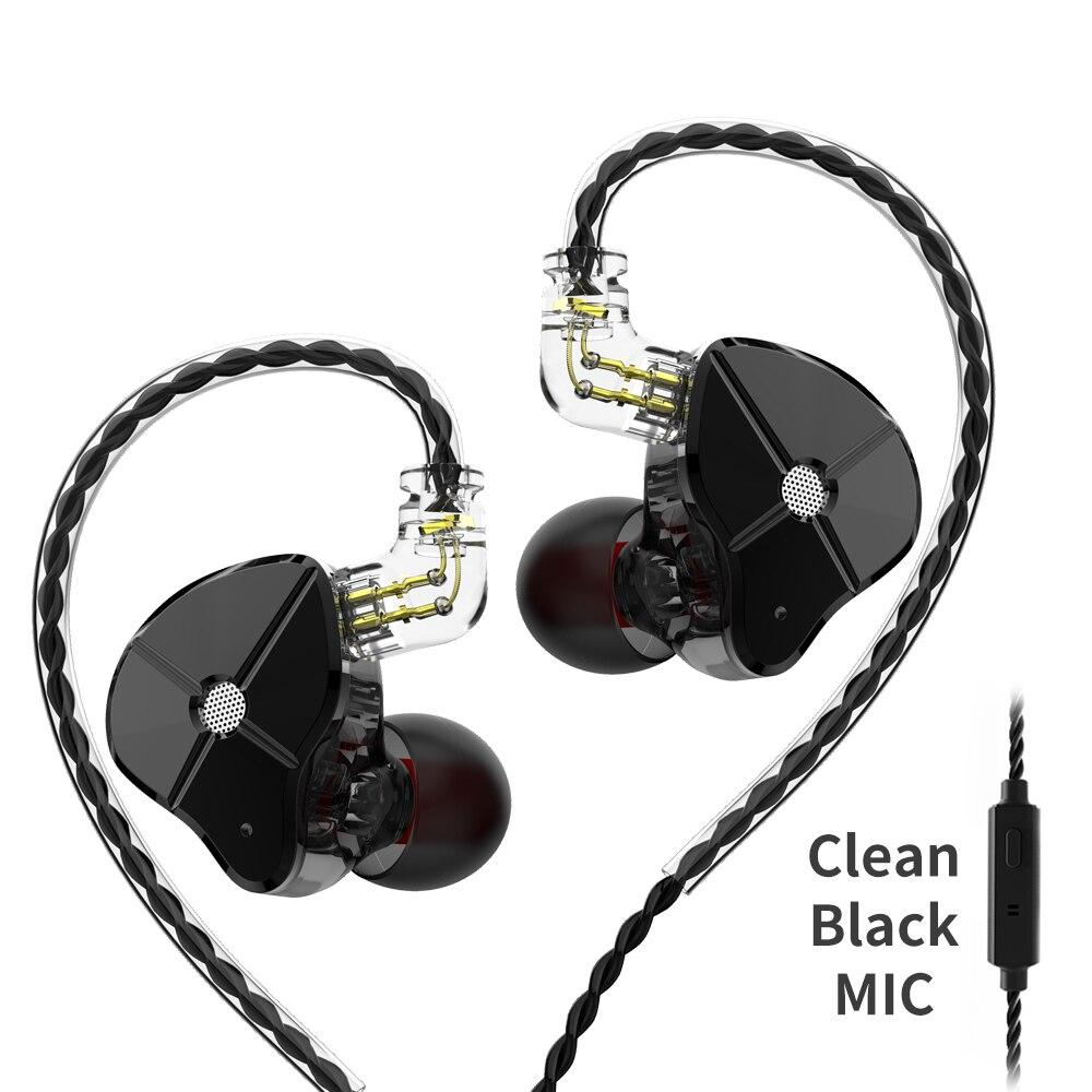 Двухдрайверные гибридные наушники TRN ST1 Mic Оригинал Черные