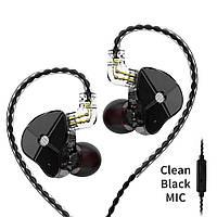 Двухдрайверные гибридные наушники TRN ST1 Mic Оригинал Черные, фото 1