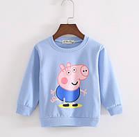 Детский реглан свитер голубой, 80