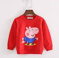 Детский реглан свитер красный, 110