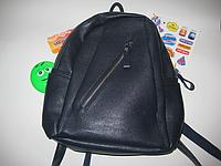 Рюкзак женский /подростковый синий с замочками и карманами 33*26 см