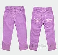 Штанишки для девочки Bembi ШР318 микровельвет 74 цвет розовый