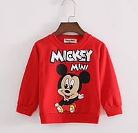 Детский реглан свитер Микки красный, 110