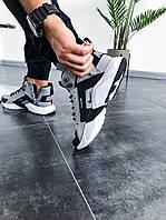 """Мужские зимние кроссовки Nike Huarache Winter Acronym """"Grey"""" (в стиле Найк Хуарачи) серый текстиль термо"""