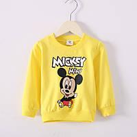Детский реглан свитер Микки желтый, 90