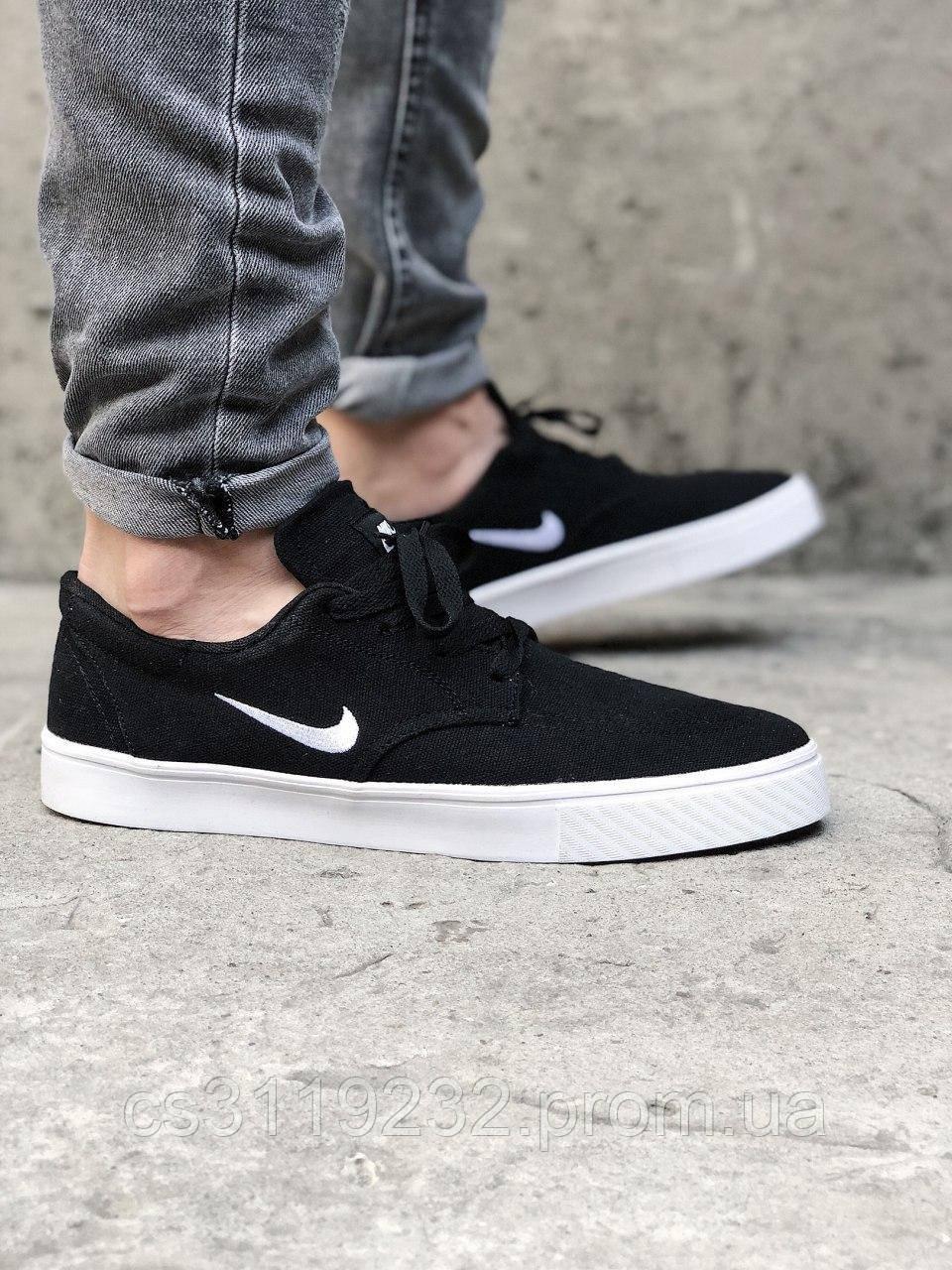 Мужские кроссовки Nike SB Clutch Sketeboarding (черные)