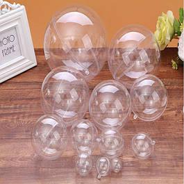 Пластиковые прозрачные шары и сердца