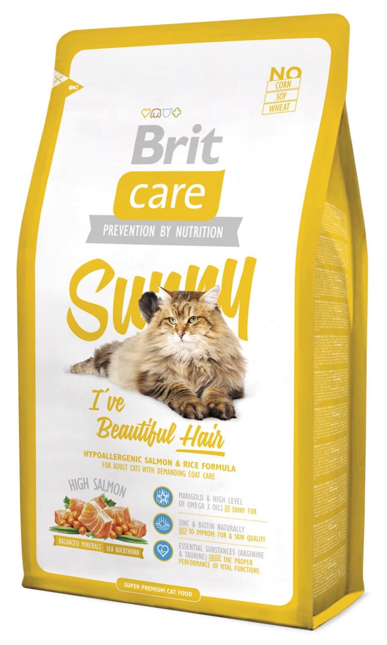 Сухий корм для кішок Brit Care Sunny i've Beautiful Hair з лососем 2 кг