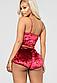 Пижама женская красная с шортами П124, фото 3