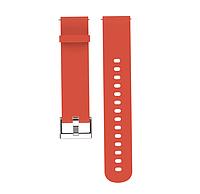 Ремешок силиконовый для смарт-часов 20 мм Smart Bracelet Silicone Red
