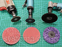 3M 947A Roloc Cubitron II - Шлифовальный фибровый круг для зачистки сварных швов д. 75 мм, Р 120+, фото 3
